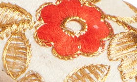 Ivory Floral Fabric swatch image