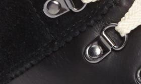 Black/ Herringbone Leather swatch image