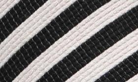 Black/ Ivory Stripe swatch image