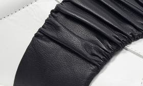 White/ Black Leather swatch image