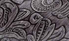 Grey Tooled Patent Leather swatch image