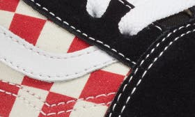 Black/ Red Checkerboard swatch image