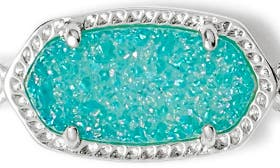 Teal Drusy/ Silver swatch image