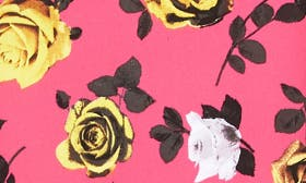 Pink- Yellow Roses Print swatch image