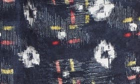 Navy- Ivory Kalopsia Ikat swatch image