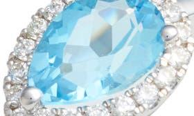 White Gold/ Blue Topaz swatch image