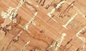 Gold Cork Faux Leather swatch image