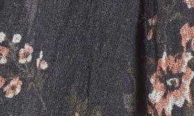Grey Dark Falling Floral Print swatch image