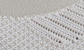 Mist Grey/ White Knit Fabric swatch image