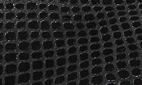 Black Snake Print Leather swatch image