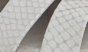 Ash Grey Snake Print Leather swatch image