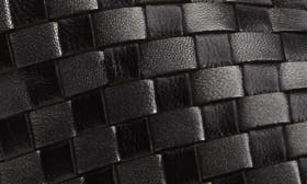 Black/ Gunmetal Leather swatch image