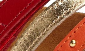 Red/ Gold Leather swatch image