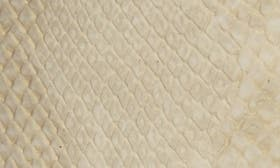 Ivory Snake Print Faux Leather swatch image