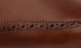 Cognac/ Blue Leather swatch image