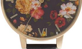 Black/ Floral/ Gold swatch image