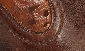 Teak Tan Rustic Rust Leather swatch image