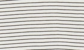 Ivory- Black Aubrey Stripe swatch image