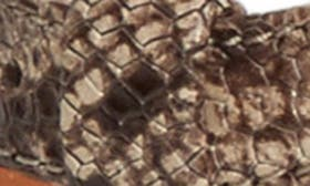 Taupe Snake Print Leather swatch image