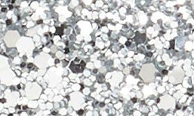 Silver Glitter Fabric swatch image