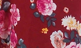 Burgundy Floral swatch image