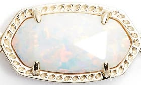 White Kyocera Opal/ Gold swatch image