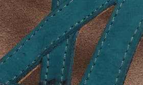 Teal Nubuck Leather swatch image