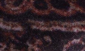 Black Multi Velvet Fabric swatch image