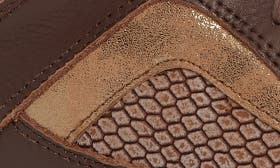 Brown Snake Print Leather swatch image