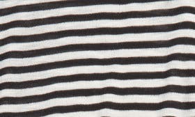 Ivory Egret- Black Mini Stripe swatch image