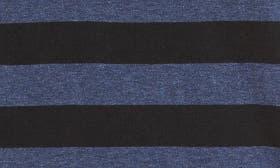 Heather Blue/ Black Stripe swatch image