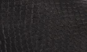 Black/Blanc Faux Snake Leather swatch image