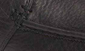 Black/Black Leather swatch image