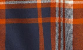 Orange Hawaii- Navy Plaid swatch image