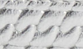 Silver Printed Leather swatch image
