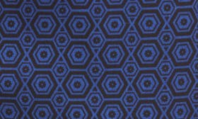 Black Blue Hexagon Geo swatch image