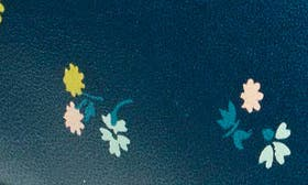 Navy Floral Leather swatch image