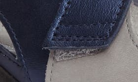 Grey/ Blue Nubuck Leather swatch image