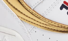 White/ Gold Faux Leather swatch image