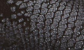 Black Snake Print Leather swatch image