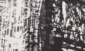 Ivory- Black Brushstroke Print swatch image