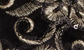 Black Brocade Fabric swatch image