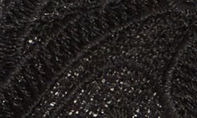 Black Attalie Lace Fabric swatch image