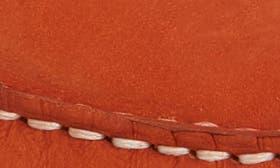 Orange Nubuck Leather swatch image