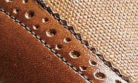 Cognac/ Linen Leather swatch image