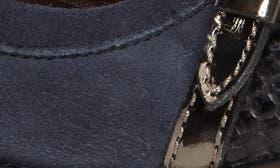 Denim Blue Leather swatch image