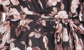 Black Ground Rose Floral Print swatch image