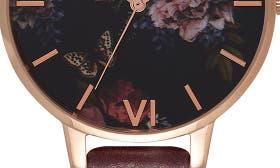 Burgundy/ Floral/ Rose Gold swatch image