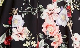 Black Botanical Floral swatch image