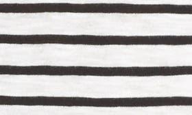 Ivory- Black Manny Stripe swatch image